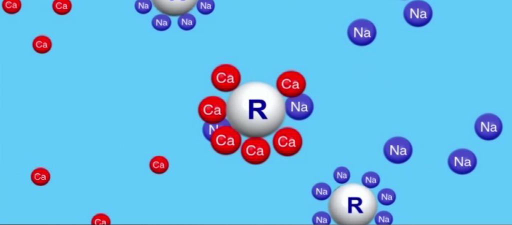 Intercambio de iones de las resinas
