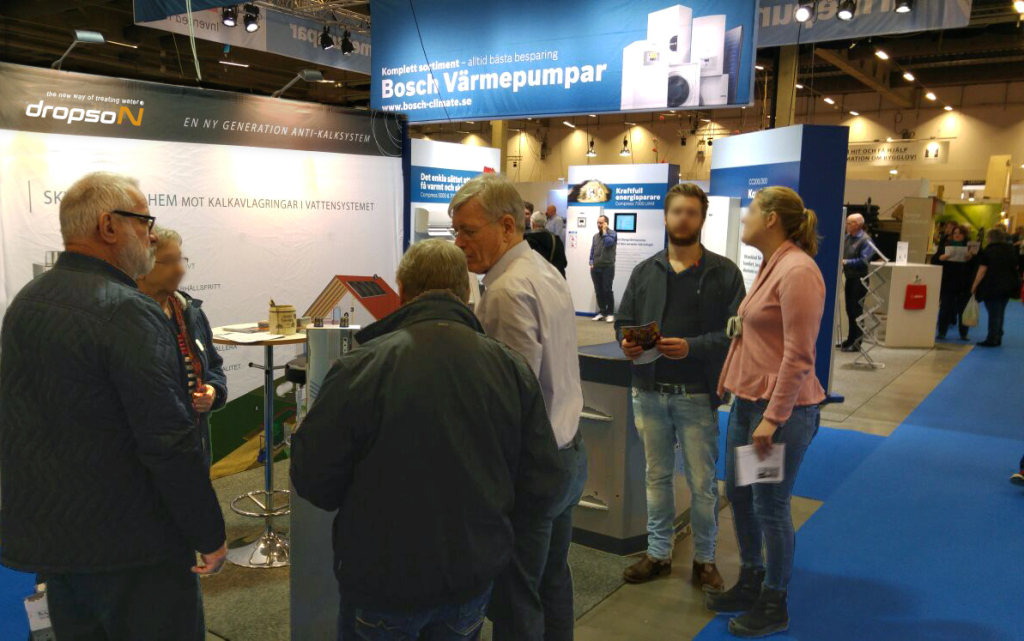 Stand del descalcificador Dropson en Suecia